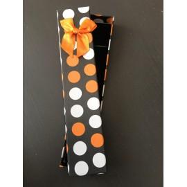 Ecrin montre Pois Blanc/Orange