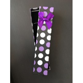 Ecrin montre Pois Blanc/Violet
