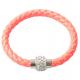 bracelet tresse cuir Pamplemousse