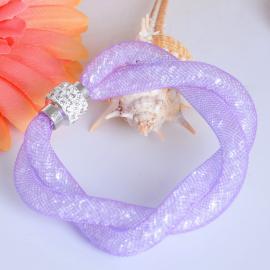 Bracelet résille Strass - Violet