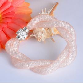 Bracelet Shamballa Double - Beige Pastel