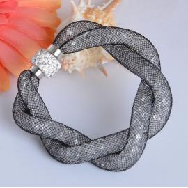 Bracelet Shamballa Double - Noir