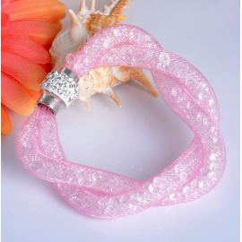 Bracelet Shamballa Double - Rose