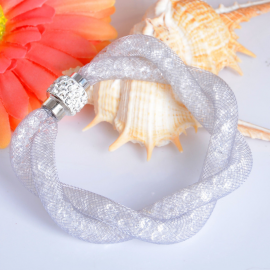 Bracelet Shamballa Double - Argenté