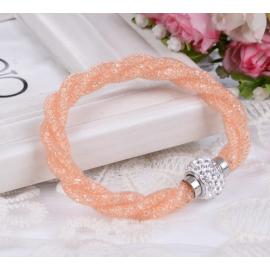 Bracelet Shamballa Triple - Orange Pastel