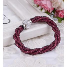 Bracelet Shamballa Triple - Rubis