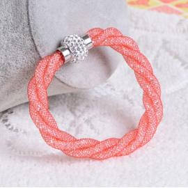 Bracelet Shamballa Triple - Corail
