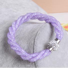 Bracelet Shamballa Triple - Lavande