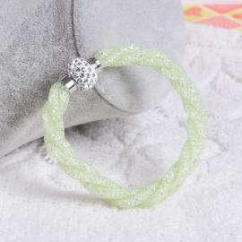 Bracelet Shamballa Triple - Vert Pastel