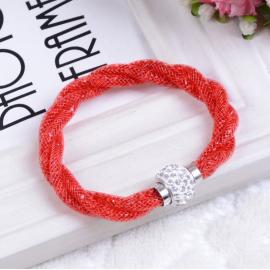 Bracelet Shamballa Triple - Rouge