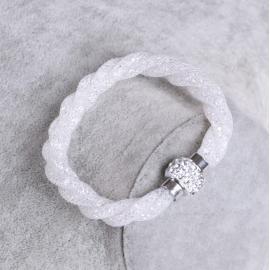 Bracelet Shamballa Triple - Blanc