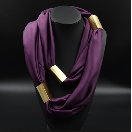 Collier Foulard Trendy Violet