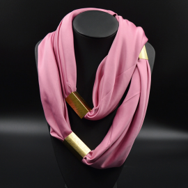 Collier Foulard Trendy Rose