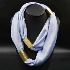 Collier Foulard Trendy Bleu Nuance